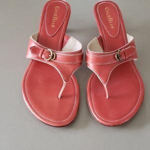 Cole Haan Red Sandals Kitten Heel 8.5 B